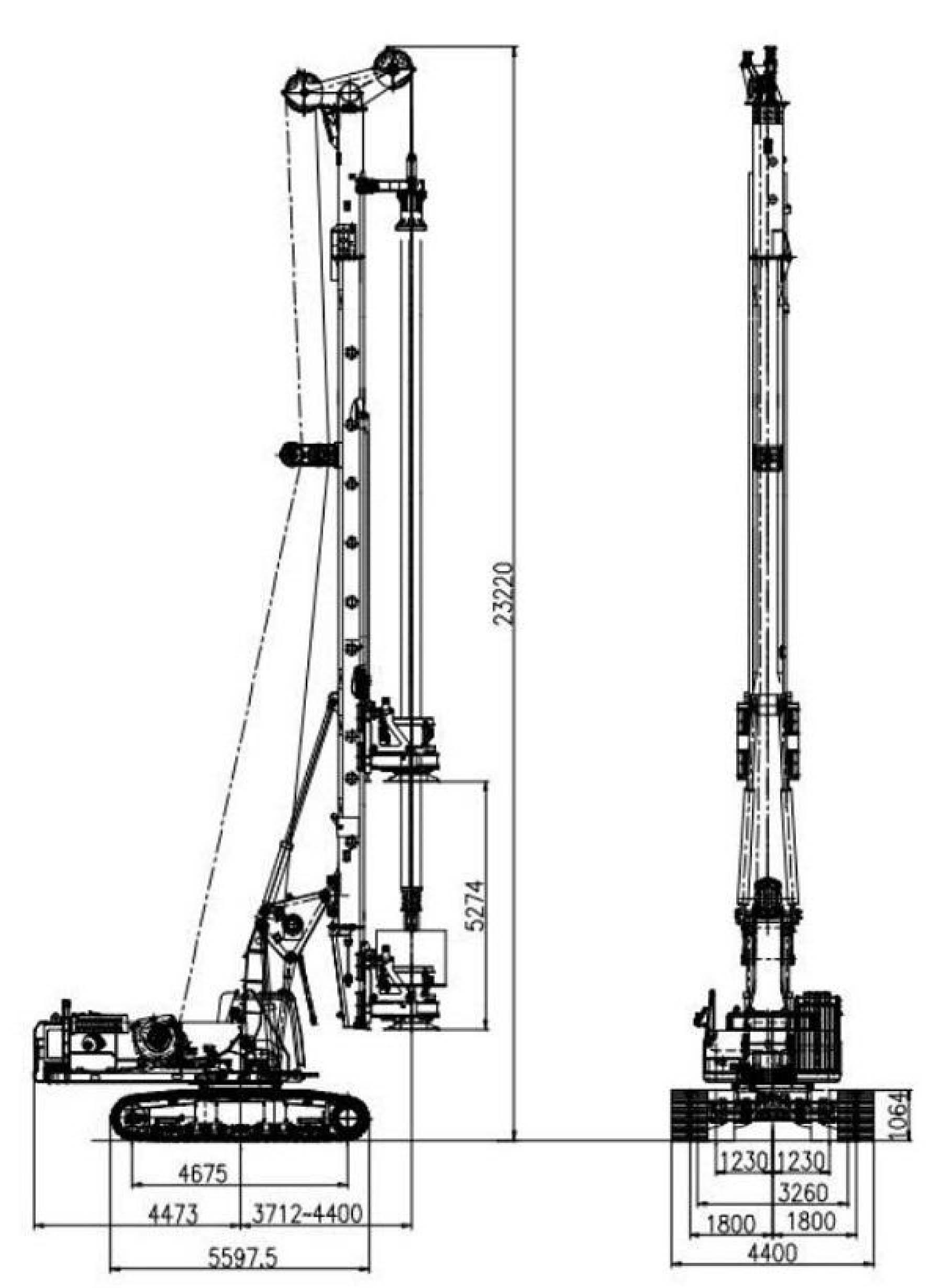 Размеры роторной буровой установки Zoomlion ZR255