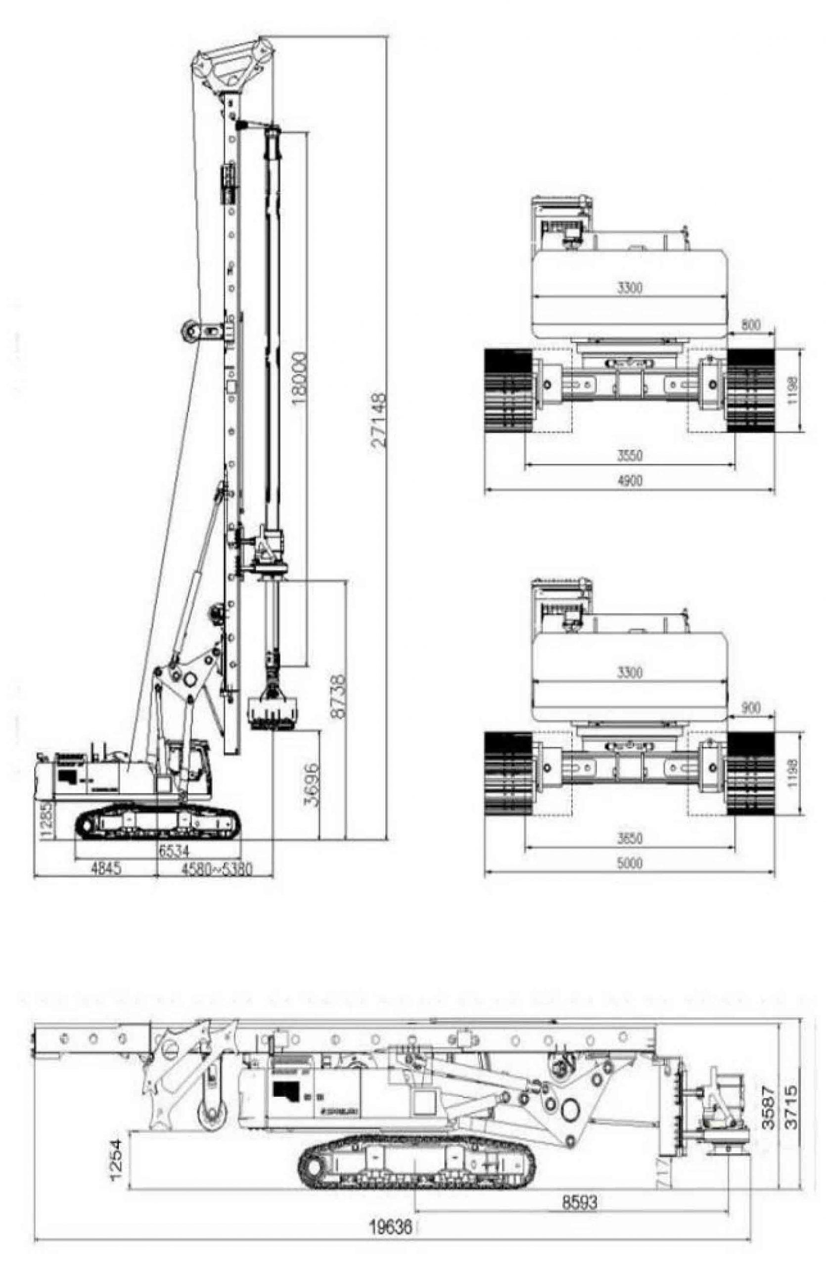 Размеры роторной буровой установки Zoomlion ZR380